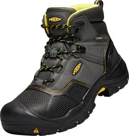 New KEEN Mens LOGANDALE Black Soft Toe Waterproof Work Boots
