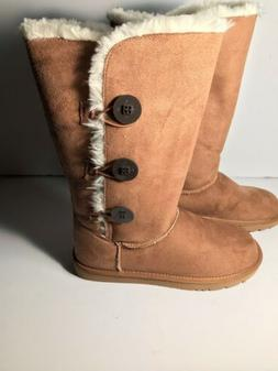 New! NGY  Boots size 10 Women's Suede Camel Fleece Lined Win