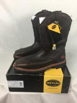 NEW OLIVER WESTERN STEEL TOE BOOTS LEATHER MENS 9.5-13 WORK