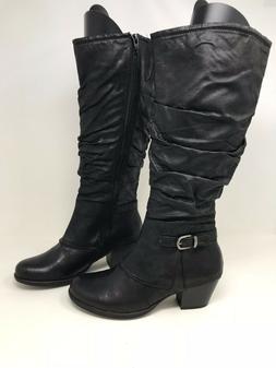 New! Women's Wear Ever 22021 Samantha Tall Slouch Boots - Bl