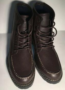 NWOT Mens Nautica Boots Madryn Size 10 Brown Leather