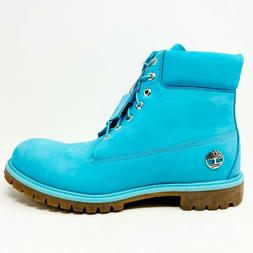 """Timberland Premium 6"""" Waterproof Boots Turquoise Blue Mens S"""