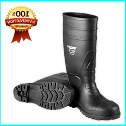 Rubber 31251.11 Steel-Toe Boots, Black PVC, 15-In., Mens Siz