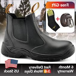 Safetoe Safety Work Boots Mens Shoes Steel Toe Black Anti-st