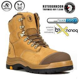 ROCKROOSTER Safety Work Boots Mens Steel Toe Cap Slip Resist