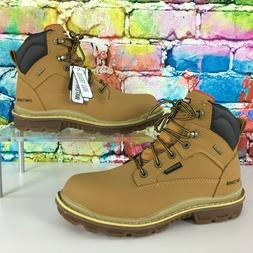 CRAFTSMAN Steel Toe Waterproof Leather Work Boots Wheat Colo