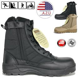 SWAT Men's Tactical Duty Boots Army Military Work Boot Hikin