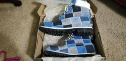 Timerland boots size 10.5 26027 mens hommes 6 in blue patchw