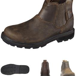Skechers USA Men's Blaine Orsen Ankle Boot,Dark Brown,11 M U