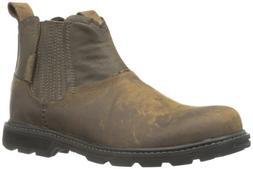 Skechers USA Men's Blaine Orsen Ankle Boot,Dark Brown,11 M U