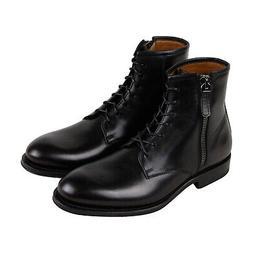 Aquatalia Victor Mens Black Leather Casual Dress Zipper Boot