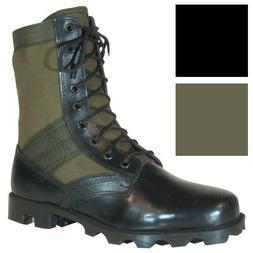 "Vietnam Jungle Boots, 8"" Leather / Canvas, Panama Sole, Mili"