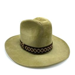 Vintage Boot Hill Cotton Cowboy Hat with Headband Men Small