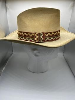 Vintage Boot Hill Suede Cowboy Hat w/Headband Men's Small We
