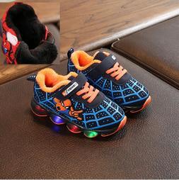 Warm Kids <font><b>Led</b></font> Glowing Sneakers Children
