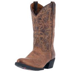 Laredo Western Boots Tan 12 Inch Birchwood Leather R Toe Men