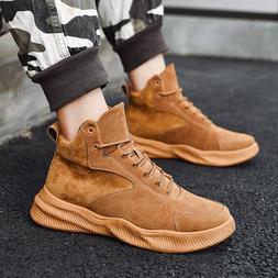 Winter <font><b>Mens</b></font> High Leather <font><b>Boots<