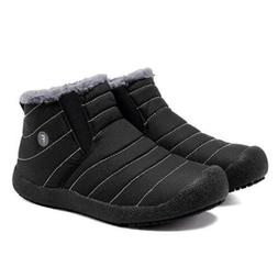 Winter Mens Warm Snow Ankle Boots Velvet Lined Warm Shoes Hi