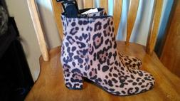 Time and Tru Women's Ankle Boots Leopard Animal Cheetah Prin