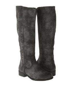 Women's MIA PHYLLIS Dark Gray Pull On w/Ankle Zip Knee High