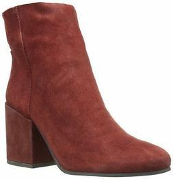 Lucky Brand Women's Ravynn Rear Zip Closure Leather Ankle Bo