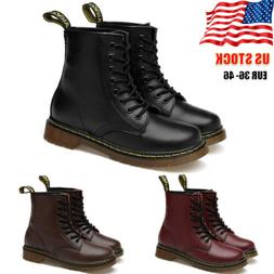 Womens Mens Classic Martins Boots Lace Up Combat Army Milita