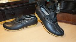 "Wonderful, LL Bean ""Bean Boots"", Black Leather Duck Boots Wo"