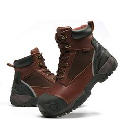 Work Boots for Men Composite Toe Molded Rubber Waterproof Sa